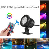 20W RGB LED Light Fountain Pool Pond Spotlight Underwater Waterproof + Remote