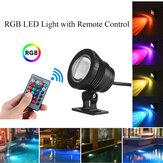 20W RGB LED Light Fountain Kolam Renang Spotlight Underwater Waterproof + Remote