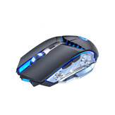 2.4G Wireless Gaming Mouse Sound Silent Rechargeable Mouse Blue Backlight With Receiver for Laptop Desktop PC