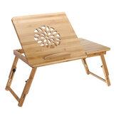 Природа Бамбуковый стол для ноутбука Простой компьютерный стол с вентилятором для кровати Диван Складной регулируемый стол для ноутбука