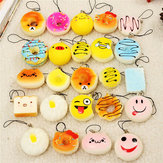 12PCS Mini Squishy Bread Scented Panda Toast Donuts Cone Humbarger Turtle