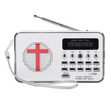 Bible MP3 صوت موسيقى Player Portable Mini FM Radio TF USB LED عرض رقمي Keypad وظيفة For Elders Gift