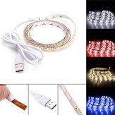 DC5V 1M USB Pure White Warm White Red Blue 2835 SMD Waterproof LED Strip Backlight for Home