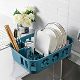 Large Dish Drainer Cutlery Draining Cup Holder Plate Rack Board Kitchen Sink