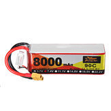ZOP Power 7.4V 8000mAh 90C 2S Lipo Batería XT60 Enchufe para RC Racing Drone