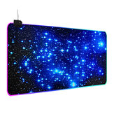 Galaxy RGB Mouse Pad Gaming Keyboard Pad Non-slip Rubber Desktop Table Protective Mat for Home Office