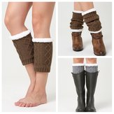 Unisex Winter Plus Velvet Knee Calf Warmer Pads Calze