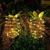 solare Powered 25 LED Corda da appendere a forma di ananas a sospensione impermeabile per arredo esterno da giardino