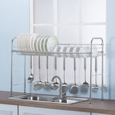 64/74/84/94CM Stainless Steel Kitchen Rack Dish Drain Shelf Drying Holder Over Sink