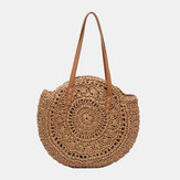 Women Summer Beach Large Capacity Straw Woven Handbag Tote Bag