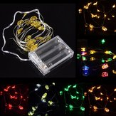 2M 18 LED Batterij Powered Santa Claus String Fairy Light Voor Xmas Party Weddinng Decor