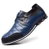 Hommes Cuir véritable Spicing Business Casual Soft Oxfords