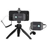 Comica CVM-WS50C 6-Kanal verstellbarer Clip Typ Drahtloses Mikrofon für iPhone Android Smartphone Mini-Stativ Videoaufzeichnung Live-Übertragung Interview
