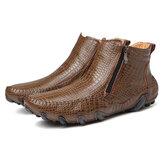 Herren Rutschfestigkeit Seitlicher Reißverschluss Leder Stiefel
