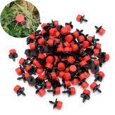 100Pcs Adjustable Micro Drip Irrigation Watering Emitter Drippers 2.5 x 1.5cm