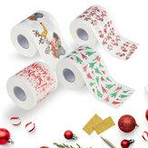 Papier de bain de noël imprimé maison père noël bain papier hygiénique papier christma noël décor tissu 170 feuilles papier toilette