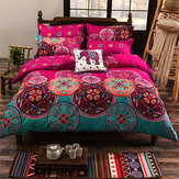 4Pcs Oriental Mandala Polyester Single Double Queen Size Bedding Pillowcases Quilt Duvet Cover Set