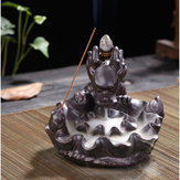 Ceramic Dragon Pond Backflow Incense Stick Burner Cones Holder Ash Catcher Fragrance Censer