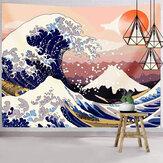 和風タペストリー大洋波タペストリー富士山壁掛けタペストリー寮の装飾用