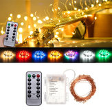Battery Powered 10M 100LEDs Waterproof Copper Wire Fairy String Light for Christmas +Remote Control Christmas Decorations Clearance Christmas Lights