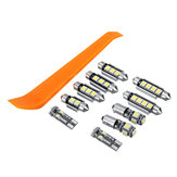 10 Pcs Car LED Interior Lâmpada Kits para VW MK4 Golf GTI Jetta 1999-2005