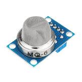 MQ-6 Gás Liquefeito Isobutano Propano Gás GLP Sensor Módulo Blindagem Módulo Detector Eletrônico Liquefeito