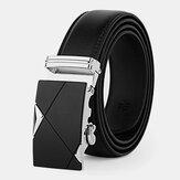 Men's Leather 110/115/120/125CM Ratchet Dress Belt With Automatic Buckle Business Jeans Suits Cowhide Belt