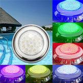 18W RGB IP68 Su Geçirmez Reçine Yüzme Havuz Hafif Çok Renkli Sualtı LED Gece Lamba 12V