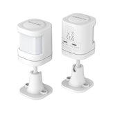 BlitzWolf®BW-IS6 433MHz Inschakelen Uitschakelen Real-time alarm Push APP-bediening PIR Bewegingssensor voor Smart Home Alarmsysteem