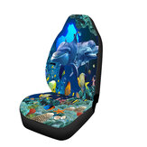 Single / Double Seat Dolphin Universal Printed Car Seat Cover Cushion Cover