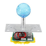 Clear Color Joystick with LED Light for Acarde Game Console Controller DIY