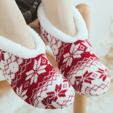 Women Girls Winter Plus Velvet Jacquard Anti-Slip Yoga Socks