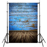 5x7ft 2.1x1.5cm Blue Wood Floor photography Backdrop Background Studio Photo Prop