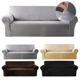 1/2/3/4 Seaters Elastic Velvet Sofa Cover Universal Chair Seat Protector Stretch Slipcover Couch Case Home Office Furniture Decoration