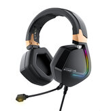 BlitzWolf® BW-GH2 Gaming Headphone 7.1 Channel 53mm Driver USB Kablet RGB Gamer Headset med Mikrofon for PC PC PS3/4