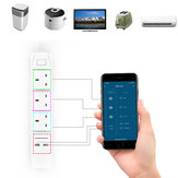 DHEKINGD D802 Smart WIFI APP Control Power Strip with 3 UK Outlets Plug 2 USB Fast Charging Socket App Control Work Power Outlet