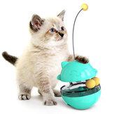 3 az 1-ben interaktív macska szivárgó táplálékgömb ugrató pálcával ellátott kisállateledelrel