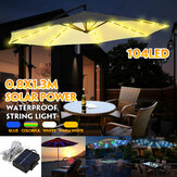 0.8M / 1.3M 104LED Solar Paraplu String Light Batterij Aangedreven Tuin Patio Fairy Lamp Party Holiday Christmas Home Decor