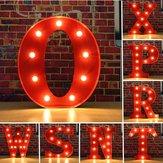 Vintage metal LED luz letra n DIY x sinal da parede carnaval decoração marquise