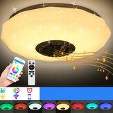 30cm de diâmetro Bluetooth WIFI LED Luz de teto RGB alto-falante musical Lâmpada regulável remoto Modelos de diamante para sala