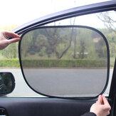 2 Stks / set Auto Side Achterruit Zonneklep Schaduw Mesh Cover Shield Zonnescherm UV Protector