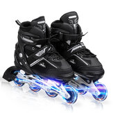 4 Size Adjustable Safe&Durable Inline Skates for Kids and Adults Outdoor Blades Roller Skates with Full Light Up LED Wheels Boys Girls Gifts