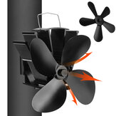 Ventilador de fogão ecológico de 4/5 lâmina de baixo ruído Ventilador de lareira para casa Distribuição de calor eficiente