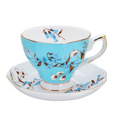 Porzellan Mode British Bone China Cafe Tasse Set Untertasse Keramik Blume Tee-Set
