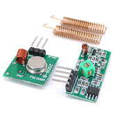 5pcs 433MHz RF Wireless Receiver Module Transmitter kit + 2PCS RF Spring Antenna OPEN-SMART for Arduino - products that work with official for Arduino boards