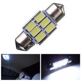 31mm 5630 6-SMD Adorno LED Mapa Interior Dome Bombilla DE3175 3022 3021 2W Blanco 1PCS