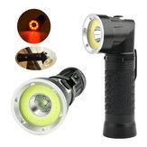 Linterna de Inspección LED de Cola Magnética Plagable XANES 1305  XM-L T6+COB