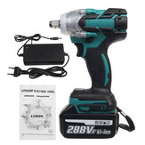 288VF 1/2'' 800NM 22800mAh Electric Cordless Brushless Impact Wrench With 1/2 Battery