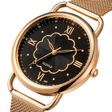 YAZOLE 399 Rose Gold Case Full Steel Women Quartz Watch