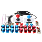 Dual Player Push Botões Joysticks USB Encoder Arcade Mame DIY Kit Set Peças